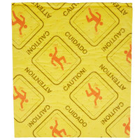Spilfyter HUV-700T 18 inch x 16 inch Yellow Universal High Visibility Light Weight Absorbent Pad   - 25/Pack