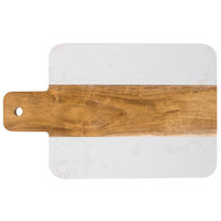 Marble and Acacia Wood Serving Board - 11 1/4 inch x 7 inch x 1/2 inch