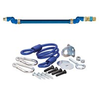 48 inch Dormont 1675BPQ2SR Deluxe SwivelMAX Gas Connector Kit with Coiled Restraining Device - 3/4 inch Diameter