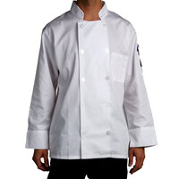 Chef Revival J100-2X Size 52 (2X) Customizable Double Breasted Chef Coat - Poly Cotton