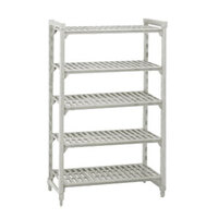 Cambro Camshelving Premium CPU244884V5PKG Shelving Unit with 5 Vented Shelves 24 inch x 48 inch x 84 inch