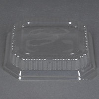Genpak SQ97 7 inch Clear Square Dome Lid for Square Bowl 500 / Case