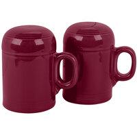 Homer Laughlin 756341 Fiesta Claret Rangetop Salt and Pepper Shaker Set - 4/Case