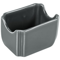Homer Laughlin 479339 Fiesta Slate 3 1/2 inch x 2 3/8 inch Sugar Packet Caddy - 12/Case