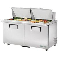 True TSSU-60-24M-B-ST-ADA-HC 60 inch 2 Door Mega Top ADA Height Refrigerated Sandwich Prep Table