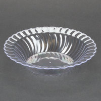 Fineline Flairware 212-CL Clear 12 oz. Plastic Bowl - 7 1/4 inch x 4 inch x 1 1/2 inch 180 / Case