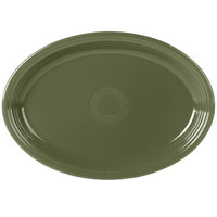 Homer Laughlin 968340 Fiesta Sage 19 1/4 inch x 13 1/2 inch Extra Large Oval Serving Platter   - 2/Case