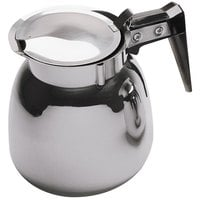 64 oz. Stainless Steel Coffee Decanter with Black Handle