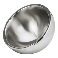 Eastern Tabletop 7208 50 oz. Stainless Steel Hammered Dual Angle Insulated Bowl