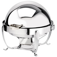 Eastern Tabletop 3118 Park Avenue 8 Qt. Round Stainless Steel Roll Top Induction Chafer