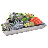 Eastern Tabletop RB-001 43 inch x 19 inch x 5 inch Rectangular Stainless Steel Tapered Raw Bar