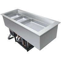 Hatco CWB-S3 Three Pan Refrigerated Slim Drop-In Cold Food Well - 120V