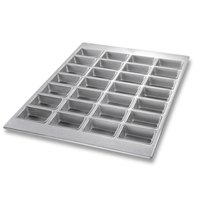 Chicago Metallic 45725 28 Cup Glazed Mini-Loaf Specialty Pan - 18 7/8 inch x 25 7/8 inch