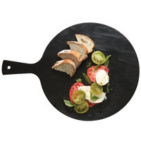 American Metalcraft FSR14 15 inch Round Faux Slate Melamine Serving Peel with Handle