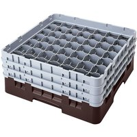 Cambro 49S318167 Brown Camrack 49 Compartment 3 5/8 inch Glass Rack