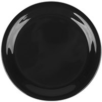 Carlisle 3300803 6 1/2 inch Black Sierrus Narrow Rim Pie Plate - 48/Case