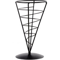 Tablecraft AC57 Vertigo Round Appetizer Wire Cone Basket - 5 inch x 7 inch - 6/ Pack