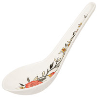 GET M-6030-CG 0.65 oz. Garden Melamine Soup Spoon - 60/Case