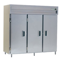 Delfield Stainless Steel SSH3-S 78.89 Cu. Ft. Solid Door Three Section Reach In Heated Holding Cabinet - Specification Line