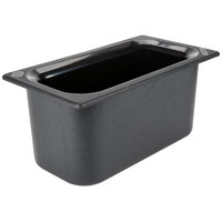 Carlisle CM110203 Coldmaster 1/3 Size Black Cold Food Pan - 6 inch Deep