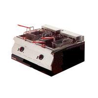 Garland ED-30FT Designer Series 34 lb. Dual Tank Electric Countertop Deep Fryer - 208V, 3 Phase, 10.6 kW