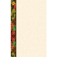 8 1/2 inch x 14 inch Menu Paper Left Insert - Floral Border - 100/Pack