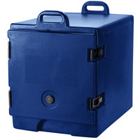 Cambro 300MPC186 Camcarrier Navy Blue Front Loading Insulated Food Pan Carrier with Handles