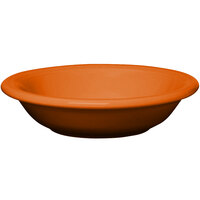 Homer Laughlin 451325 Fiesta Tangerine 13.25 oz. Rim Soup Bowl - 12 / Case