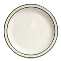 Tuxton TES-005 Emerald 5 1/2 inch Green Speckle Narrow Rim China Plate - 36/Case