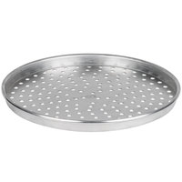 American Metalcraft HA4016P 16 inch x 1 inch Perforated Heavy Weight Aluminum Straight Sided Pizza Pan