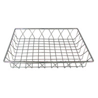 14 inch x 12 inch Rectangular Chrome Pastry Basket