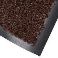 Cactus Mat 1437M-B41 Catalina Standard-Duty 4' x 10' Brown Olefin Carpet Entrance Floor Mat - 5/16 inch Thick