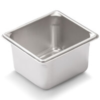 Vollrath Super Pan V 30642 1/6 Size Anti-Jam Stainless Steel Steam Table / Hotel Pan - 4 inch Deep