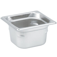 Vollrath 90642 Super Pan 3® 1/6 Size Anti-Jam Stainless Steel Steam Table Pan - 4 inch Deep