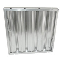 All Points 26-3885 16 inch x 16 inch x 2 inch Stainless Steel Hood Filter - Ridged Baffles