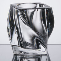 Sterno Products 80250 4 inch Clear Twist Glass Liquid Candle Holder