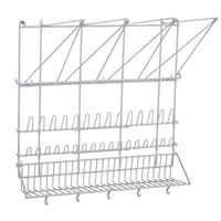 Matfer 169002 Pastry Bag and Tip Drying Rack - Plasticized Wire
