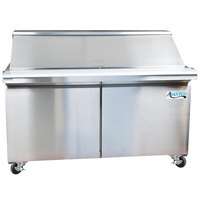 Avantco SCLM2-60 60 inch Mega Top Two Door Sandwich / Salad Prep Refrigerator
