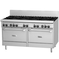 Garland GF60-4G36RR Natural Gas 4 Burner 60 inch Range with Flame Failure Protection, 36 inch Griddle, and 2 Standard Ovens - 234,000 BTU