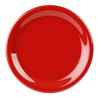 9 inch Pure Red Narrow Rim Melamine Plate 12 / Pack