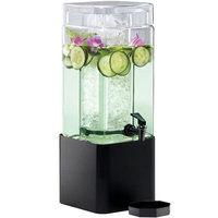 Cal-Mil 1112-1-13 1.5 Gallon Mission Square Glass Beverage Dispenser with Black Metal Base