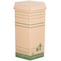 LBP 20002 Large Cardboard Recyclable Trash Can - 10/Case