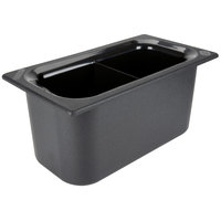 Carlisle CM110303 Coldmaster 1/3 Size Black Divided Cold Food Pan - 6 inch Deep