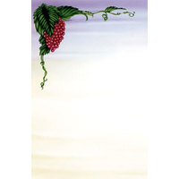 8 1/2 inch x 11 inch Menu Paper - Wine Setting Themed Grapevine Design Left Insert - 100/Pack