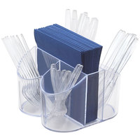 Cal-Mil 910 Classic Flatware / Napkin Display - 8 inch x 8 inch x 5 inch