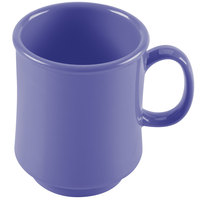GET TM-1308-PB Diamond Mardi Gras 8 oz. Peacock Blue Tritan Stacking Mug - 24/Case