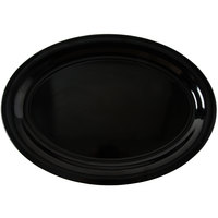 Carlisle 4384003 21 inch x 15 inch Black Oval Melamine Catering Platter