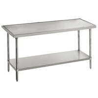 Advance Tabco VSS-242 24 inch x 24 inch 14 Gauge Stainless Steel Work Table with Stainless Steel Undershelf
