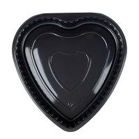 Genpak 55H09 Bake 'N Show Dual Ovenable Heart Shape Black Cake Pan - 200/Case