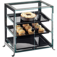 Cal-Mil 1574-S-13 Soho Three Tier Display Case with Front Doors - 17 1/4 inch x 12 3/4 inch x 20 3/4 inch